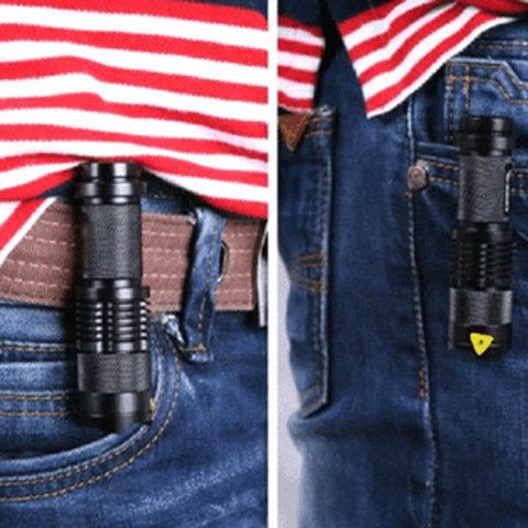 Image of 2000LM Waterproof Adjustable Focus Tactical LED Flashlight