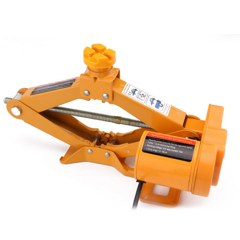 Image of 3 Ton Automatic Electric Scissor Lift With Electric Car Wrench Kit Tool