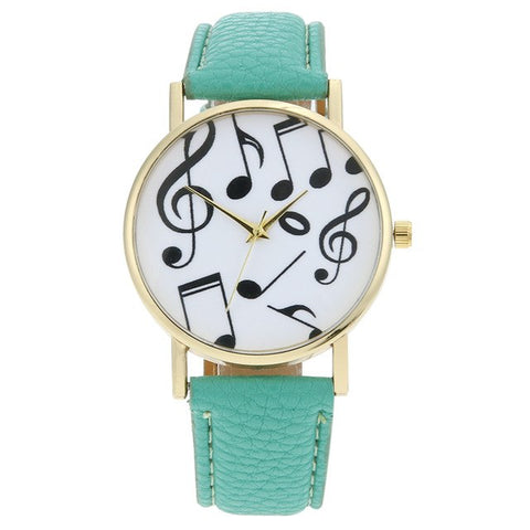 Musical Note Watch Lady Vintage Clock