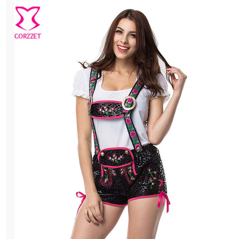 Image of Corzzet Women Lederhosen Oktoberfest Bavarian German Beer Costume