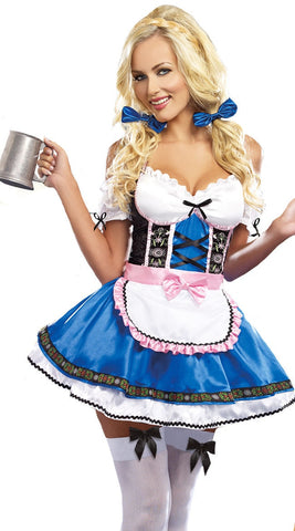 Image of German Bavarian Oktoberfest Womens Dirndl Costume Heidi