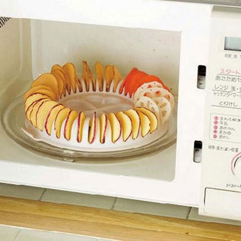 DIY Baking Pan Microwave Potato Chips Maker  Snacks Maker Kitchen Gadget