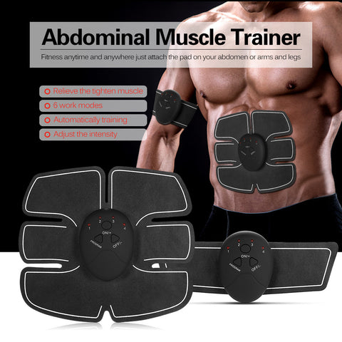 Image of Abdominal Muscle Trainer Battery Fitness Toner Belly Leg Arm Exercise Health Abdominal Fitness Training Toning Gear Workout Equipment