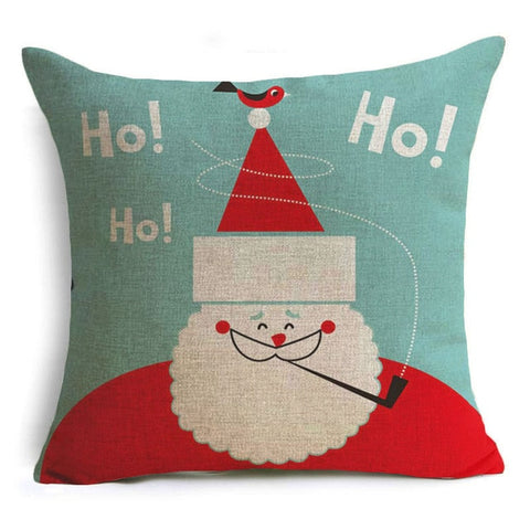 Image of Let It Snow Xmas Style Cushion Cover Merry Christmas! Santa Claus Socks Balloon Home Decorative Pillows Cover Nordic Gifts Owls