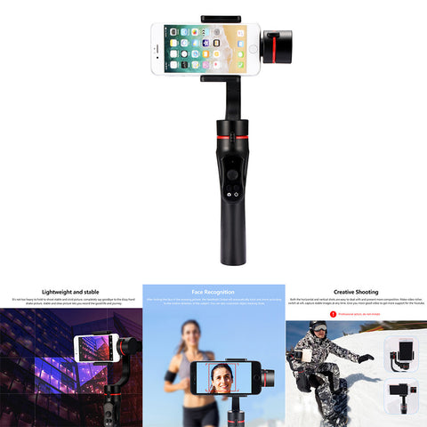 Handheld Gimbal Camera Stabilizer 3-axis 360°Camera Motion Holder Photo