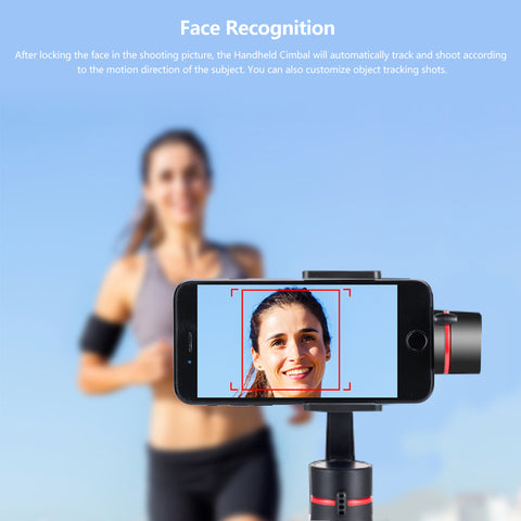 Image of Handheld Gimbal Camera Stabilizer 3-axis 360°Camera Motion Holder Photo