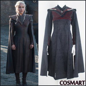 Game of Thrones Season 7 Mother of Dragon Queen Daenerys Targaryen Dress Halloween Cosplay costume NEW 2018 free shipping