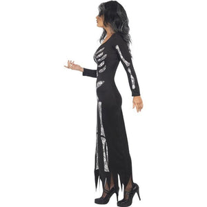 Women Halloween Ghost Festival Horror Skeleton Costume Holiday Party Club Dress