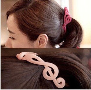 3pcs/lot Treble Clefs acrylic  hair clip.
