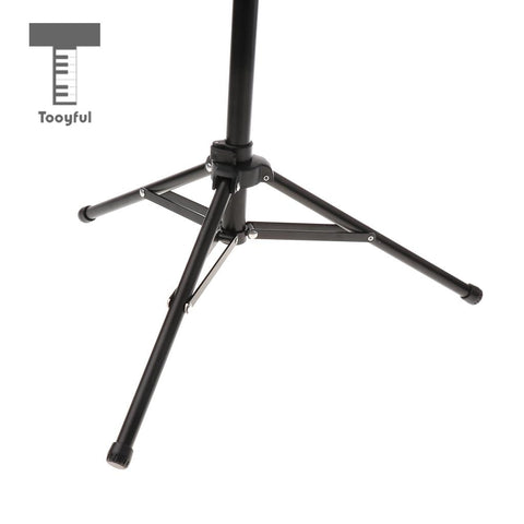 Adjustable Alloy Tripod Music Stand Music Score Note Holder for Musician Concert Stage Accessory Black