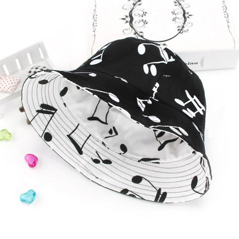 Baby Musical Note Printing  Sun Hat Children