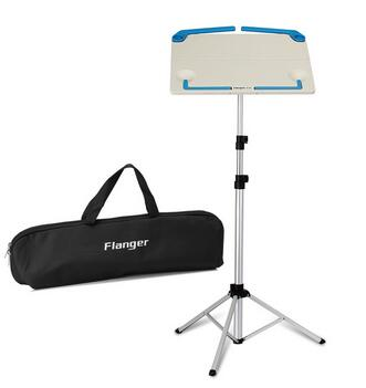 Image of Black White Flanger FL-05 Professional Foldable  Music Note Stand  With Carrying Bag