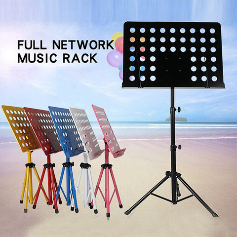 1pcs Foldable Lightweight iron Sheet Tabletop Music Stand Holder With Waterproof Carry Bag black/white/pink