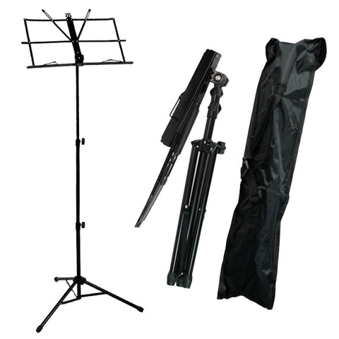 SEWS-Folding Sheet Music Note Stand  with Bag (Color: Black)