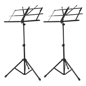 2 Pack Adjustable Folding Tripod Sheet Music Stand with Bag