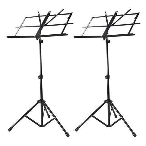 Image of 2 Pack Adjustable Folding Tripod Sheet Music Stand with Bag