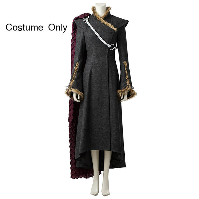 Game of Thrones Costume Daenerys Targaryen Cosplay Disguise Woman Adult Fancy Dress Halloween Costumes For Women Cloak With Boot
