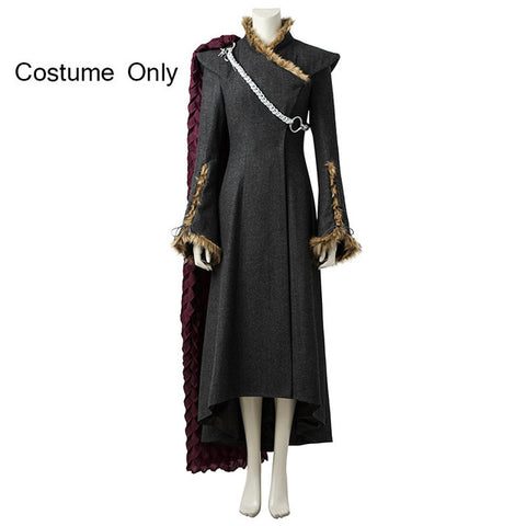 Image of Game of Thrones Costume Daenerys Targaryen Cosplay Disguise Woman Adult Fancy Dress Halloween Costumes For Women Cloak With Boot