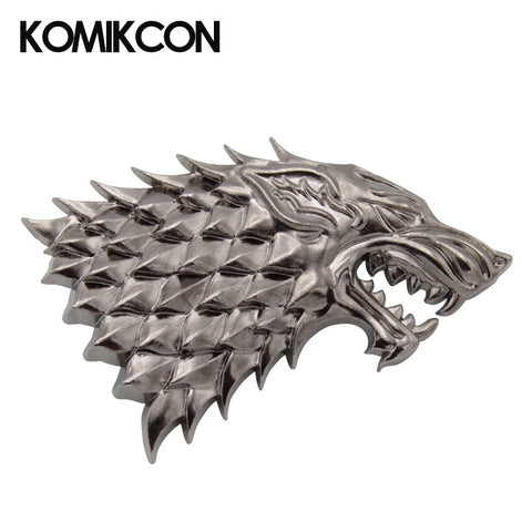 Game Of Thrones Wolf Head Metal Badge Cosplay Brooches Halloween Costume Accessories Christmas Gift For Men Women