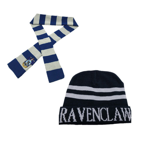 Image of Harry Potter Hats Ties Gryffindor Slytherin Hufflepuff Ravenclaw Cap Scarves Cosplay Costumes Hermione Men Women Boy Girl Scarfs