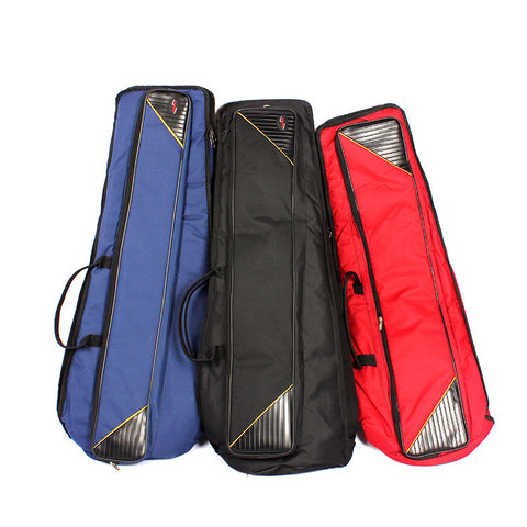 Image of Professional  Portable Durable Tenor Trombone bags cases cover soft gig package canvas backpack shoulder