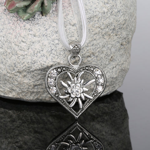 Legenstar Love Heart Pendant  Necklaces Oktoberfest Edelweiss Statement Necklace for Women