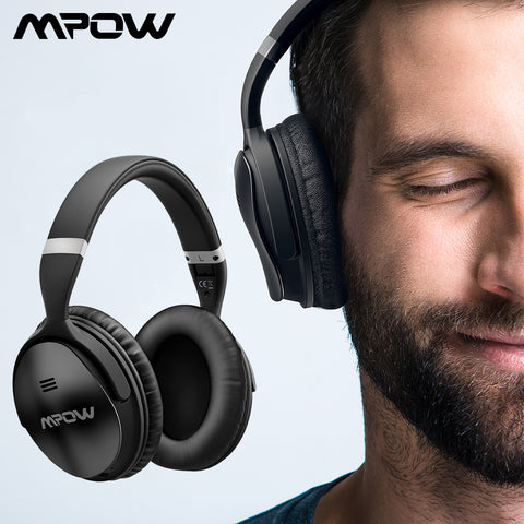 Original Mpow H5 Wireless Bluetooth Headphones With Mic Active Noise Cancelling Headphone With Carrying Bag For PC TV Smartphone