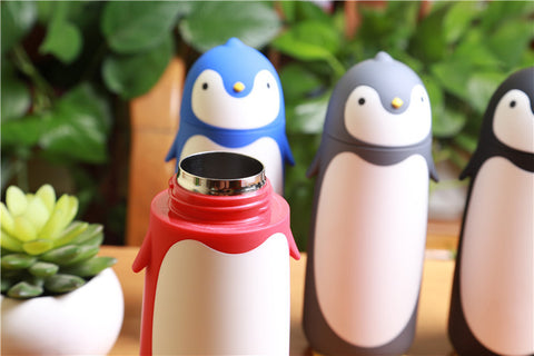 Image of VILEAD Penguin Stainless Steel Thermos Vacuum Flasks Cartoon Thermocup Portable Thermal Insulated Mug Children Drinking Bottle
