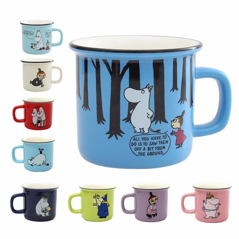 9 Styles Moomin Caneca Little My Lovely Gift Coffee Cups Milk Water Breakfast Copo Tea Cute Cartoon Sweet Love Teacup Travel Mug