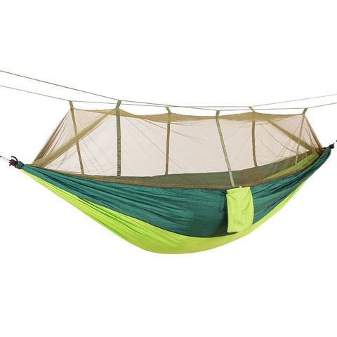 Image of Portable Lightweight Parachute Nylon Camping Mosquito Nets Hammocks for Outdoor Hiking Travel Backpacking Style 12