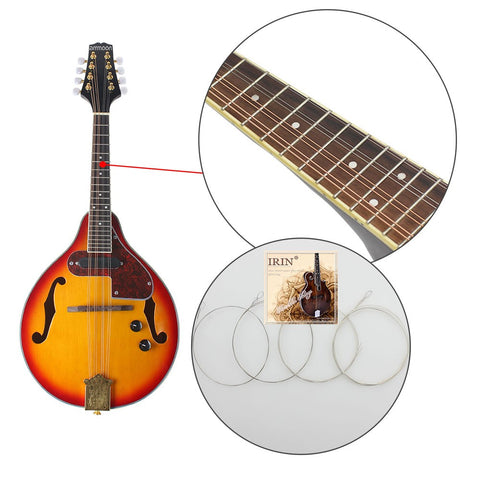 ammoon Adjustable 8-String Electric A Style Mandolin Rosewood Fingerboard String Instrument with Cable Strings Cleaning Cloth