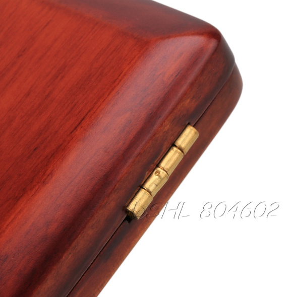 Professional Durable Solid Wooden Bassoon Reed Case Hold 3 pcs Reeds Dark Red