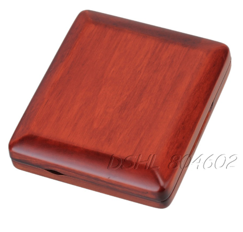Image of Professional Durable Solid Wooden Bassoon Reed Case Hold 3 pcs Reeds Dark Red