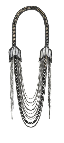 Brooklyn Necklace Oxidised