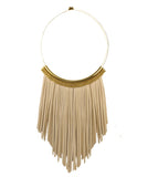 Crystal Tan torque necklace