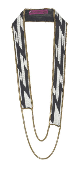 Gia Necklace black and cream