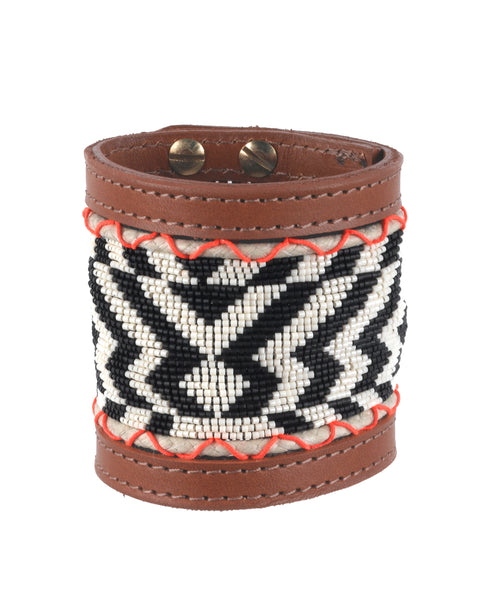 Hosi Wide Cuff  Black and Cream