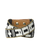 Josette Double Wrap Cuff  Black and Cream