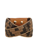 Josette Double Wrap Cuff Bronze and Cream