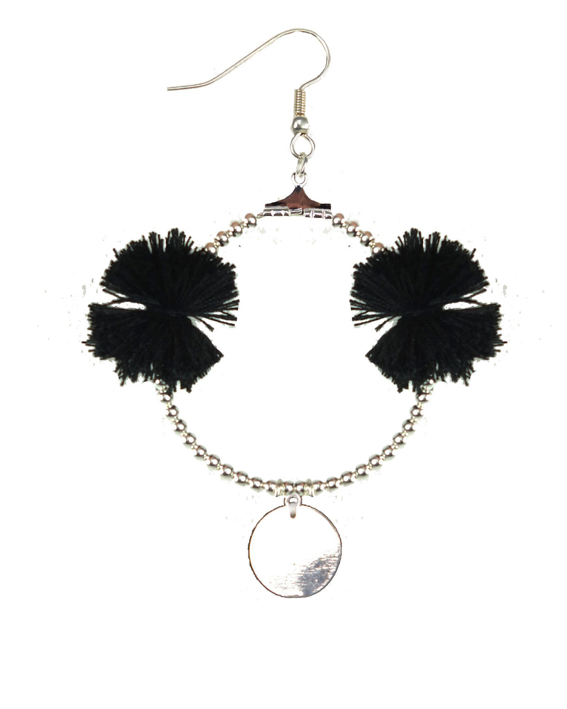 Emie Black Earring