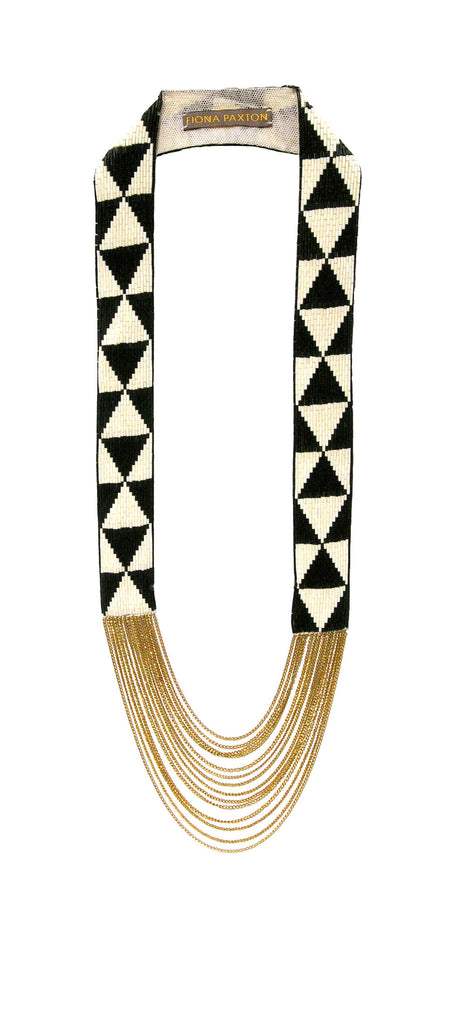 Louise Necklace black and cream