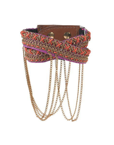 Nixie Cerise beaded cuff