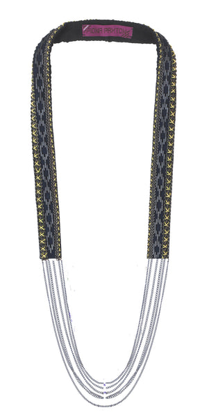 Odette Oxidised beaded Necklace