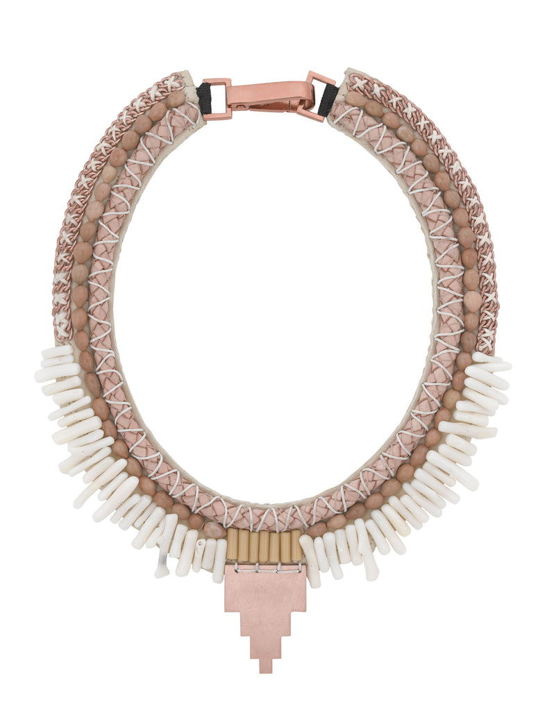 Zoe collar necklace in rose gold