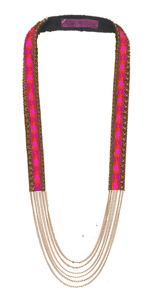 Odette Cerise beaded Necklace
