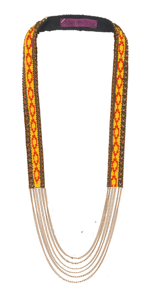Odette Yellow beaded Necklace
