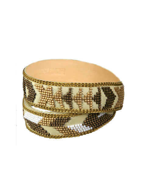 Patty gold double wrap cuff