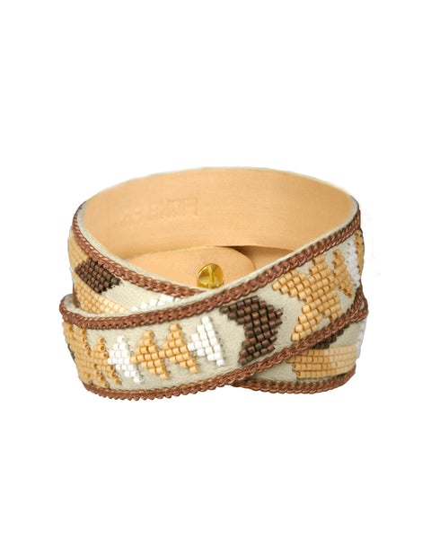 Patty rose gold double wrap cuff
