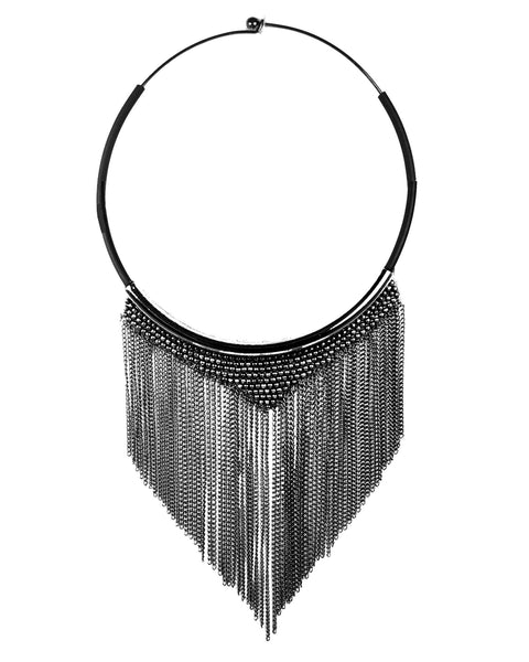 Shade Necklace Oxidised