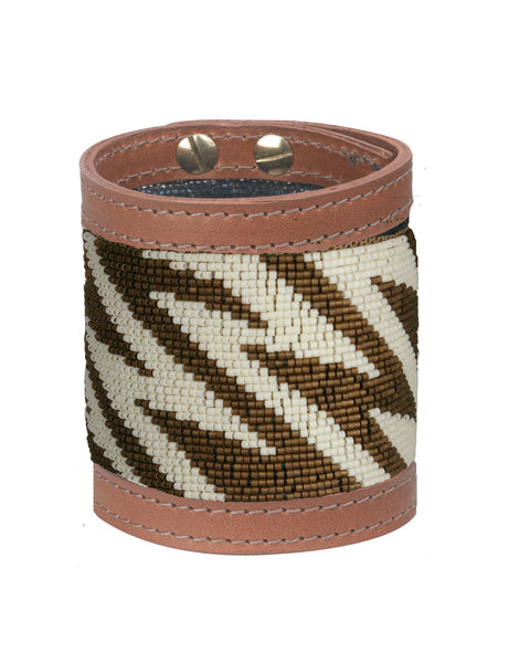 Siri Bronze and Cream Wide Cuff